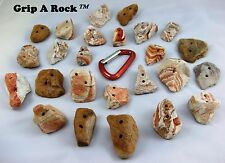 """35 Rock Climbing Hand Holds, Rock Wall Holds, Rock Climbing Holds, """"REAL ROCK"""""""