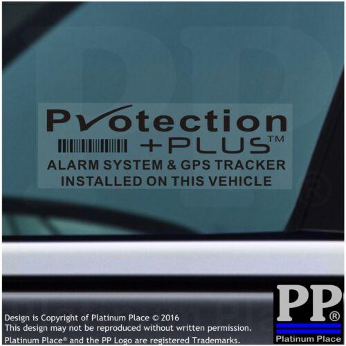 5 X Protection Plus-Negro-Pegatinas interno-advertencia GPS Tracker vehículo seguridad
