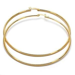 Extra-Large-Real-Gold-Plated-Round-Hoop-Earrings-14k-Gold-layered-70mm-x-2mm