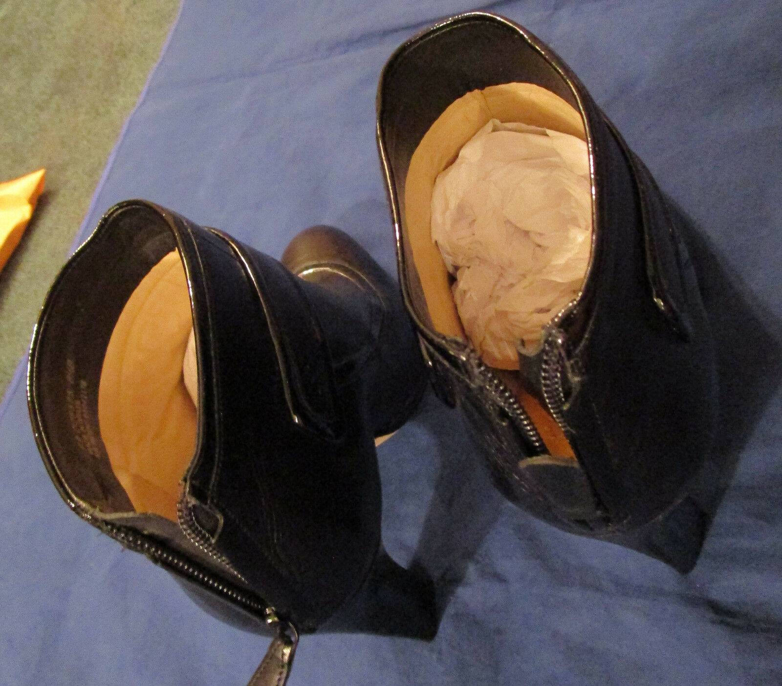 COLE HAAN WOMAN'S BOOTIES BOOTIES BOOTIES TO THE ANKLE---EXCELLENT CONDITION---SIZE 8.5--- BLACK a8c603
