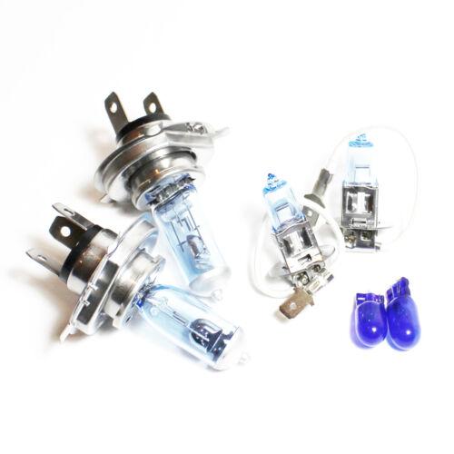 Peugeot Boxer 55w Tint Xenon HID High//Low//Fog//Side Headlight Bulbs Set