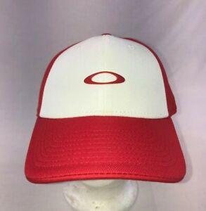 1d7834025fc Oakley Men s Silicon O Cap Adjustable Red White Snapback Hat Flex ...