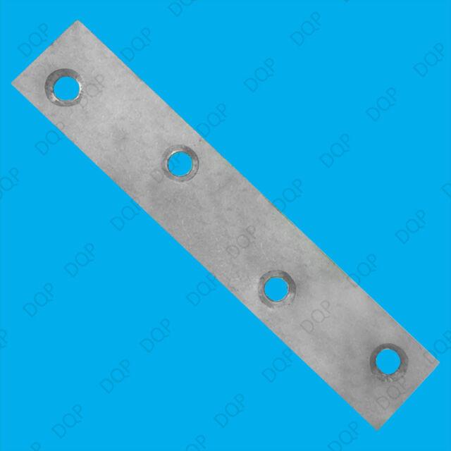 "6x 100mm (4"") Flat Steel Brackets Straight Mending Plates, Repair Fixing Joining"