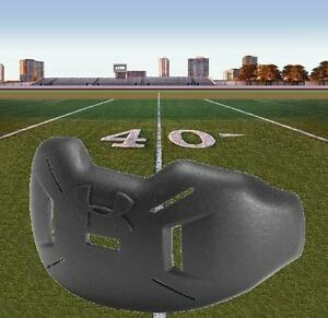 UNDER-ARMOUR-LIP-and-MOUTH-PROTECTOR-FOOTBALL-MPZ-Defends-guards-Helmet-UA-BLACK
