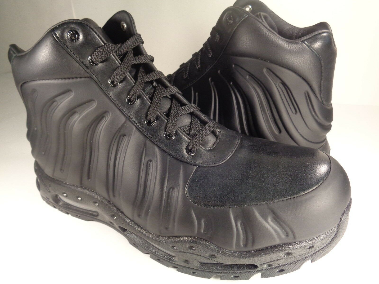 Nike Air Max Foamdome Foamposite Boots Black Triple Black SZ 9 (843749-002)