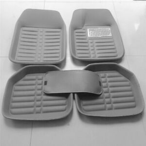 5PC-Gray-PU-Leather-Auto-Car-Floor-Mat-Front-Rear-Liner-Waterproof-Skidproof-Pad