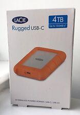 LaCie 4TB Rugged USB-C / USB 3.0 External Hard Drive New, Sealed