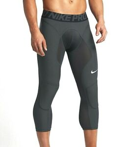 1a658793d321 Image is loading NIKE-Hyperstrong-Pro-Tights-Compression-Padded-Slider-Grey-