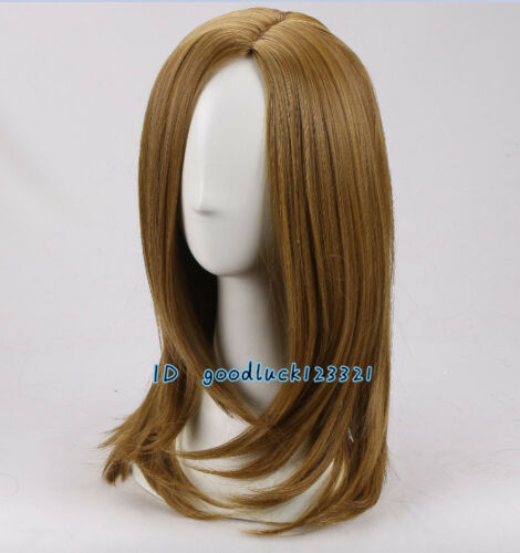 Women Gold brown fashion daily layered wavy cosplay wig a wig cap