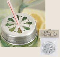 Mason Jar Straw Holder Drink Lid, Aluminum