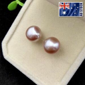 7mm-925-Sterling-Silver-Freshwater-Pearl-Stud-Earrings-Purple