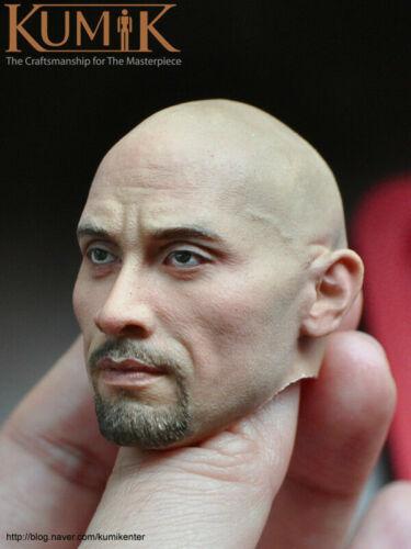 """KUMIK 1//6 Male Head Asian Bald Sculpt KM16-71 PVC Fit 12/"""" Action Figure"""
