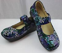 Alegria Professional Paloma Hibiscus &co. Nurses/doctor/chef Shoes Leather Clogs