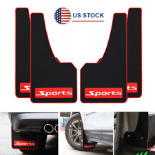 4x Large Size Rubber Car Truck Mud Flaps Splash Guards Fender Cover Sports Style Fits Toyota