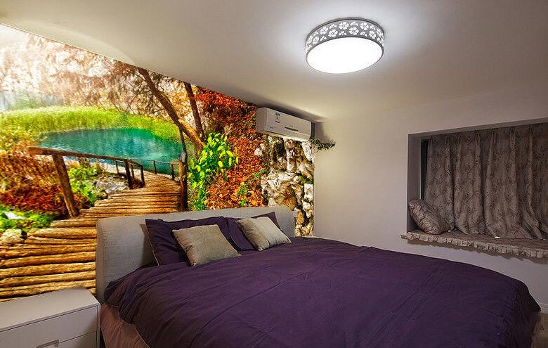 3D Bridge View View View 445 Wallpaper Murals Wall Print Wallpaper Mural AJ WALL AU Lemon c81ceb