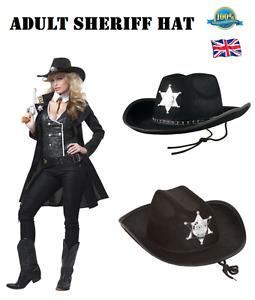 USA Style ADULT SHERIFF HAT Ranger Deputy Police Hat Cowboy Hat Fancy Dress Hat
