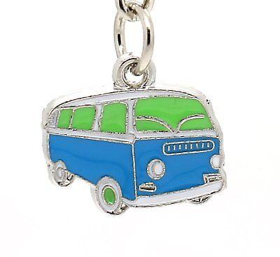 Novelty Cute Mini VW Camper Van Resin Keyring Key Chain