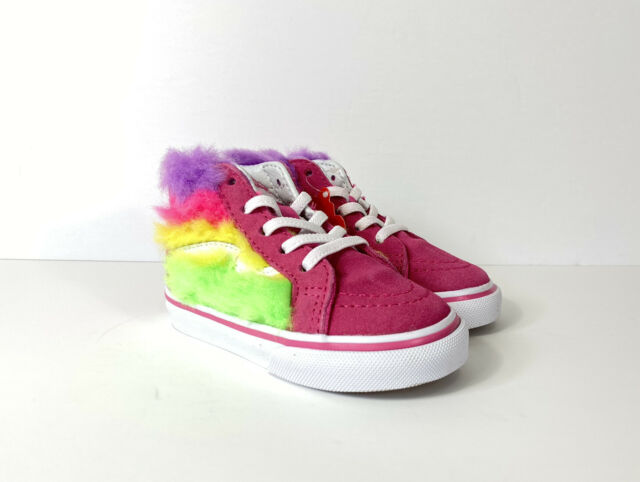 VANS Sk8-hi Zip Rainbow Fur Shoes