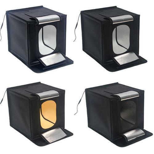 "60X60CM 24/"" LED Luz De Foto Plegable Mesa De Luz 65 W Cubo Tienda Caja De Luz 4 backgrou"