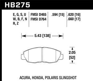 Disc-Brake-Pad-Set-Si-Front-Hawk-Perf-HB275Z-620