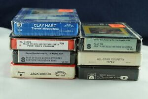 Lot-Of-7-70-039-s-Country-Bluegrass-NEW-Sealed-8-Track-Tapes