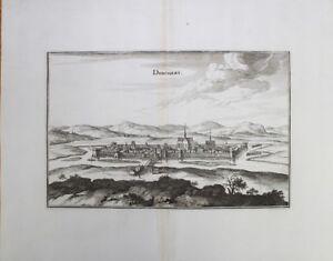 Merian, Vue Donchery, Ardennes 1657