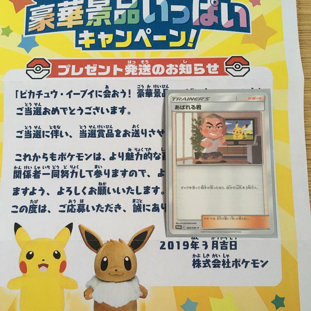 Pokemon Promo card limited 320 SM-P ABARERU KUN Japanese Eevee Pikachu campaign