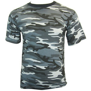 100/% Cotton Chinese PLA Flecktarn Army Military Top Tibet Camouflage T-Shirt