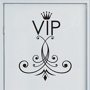 vip wandtattoo mit krone t raufkleber bad wc ornament. Black Bedroom Furniture Sets. Home Design Ideas