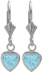 Sterling-Silver-1-70-Carat-6mm-Created-Aquamarine-Heart-Leverback-Earrings