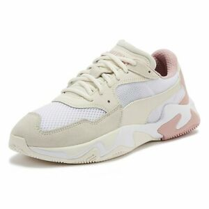 Details about PUMA Storm Origin Womens Beige Trainers Lace Up Sport Casual  Shoes