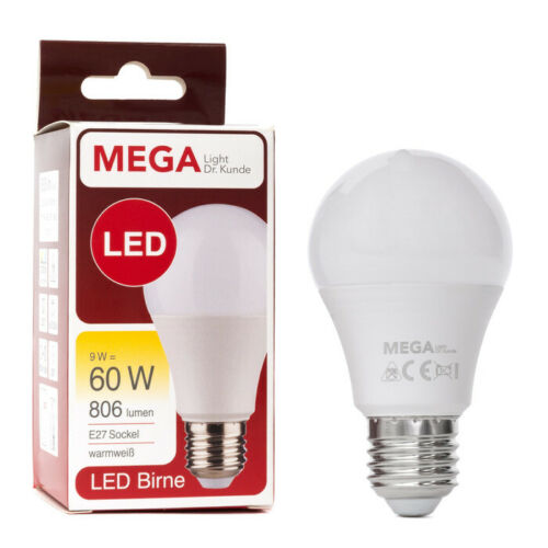 E27 827 200° NODIM MEGALight LED Birnenform 9W 60W
