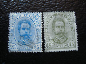 Italy-Stamp-Yvert-and-Tellier-N-61-62-Obl-A11-Stamp-Italy-A