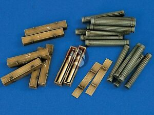 Verlinden-1-35-SuperValue-88mm-German-Ammo-Crates-WWII-24-Wood-48-Metal-1102