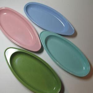 4-Fabulous-Pastel-Vintage1970s-Corn-plates-Hollywood-Tamco-Melmac-Mid-Century