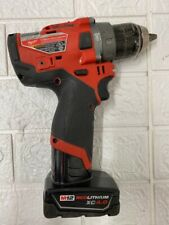 New Listingmilwaukee 2504 20 12 Hammer Drill Driver With Battery Po1006319