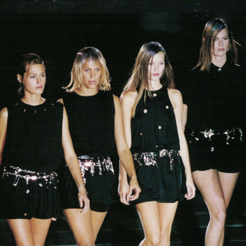 GIANNI VERSACE black mini dress w/ Medusa and Safe