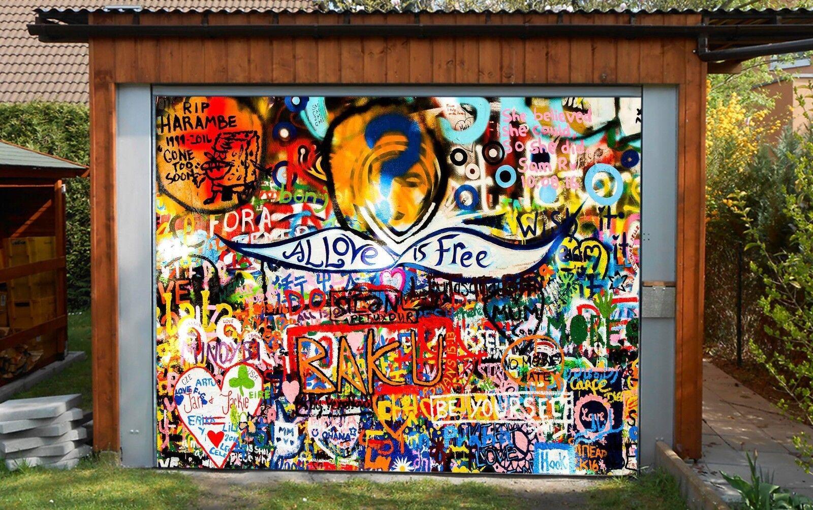 3D Graffiti 102 Garage Door Murals Wall Print Decal Wall Deco AJ WALLPAPER UK