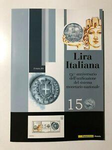 2012-Folder-150-Lira-Italiana-Italian-Lira-150th-Foglietto-Argento-Silver-S-S