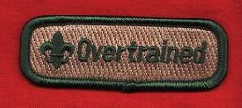 OVERTRAINED Trained Patch Boy Scout Leader Uniform Spoof Comic Uniform Award