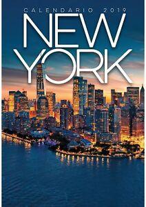 New York City Calendario da Parete 2019 BYBLOS