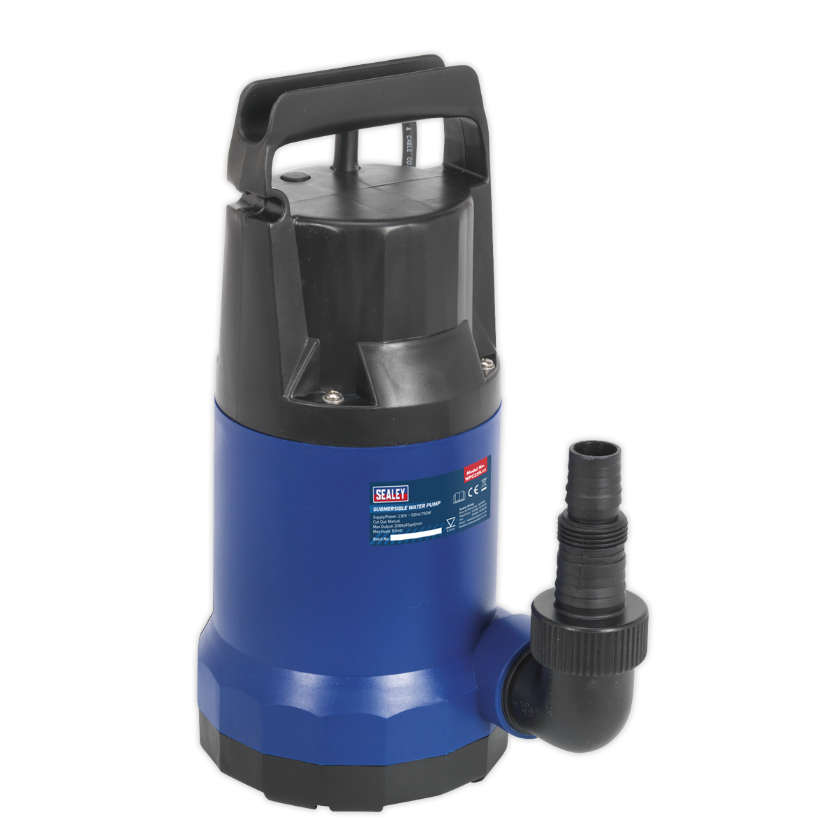 Submersible Water Pump 208ltr min 230V   SEALEY WPC235 by Sealey   New