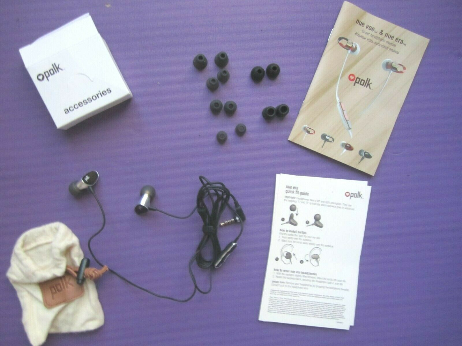 Polk Audio Nue Era In-Ear Headphones with 3 Button Controller and Build-in Mic