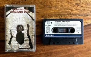 Johnny-Hallyday-Flagrant-Delit-Cassette-Audio-K7