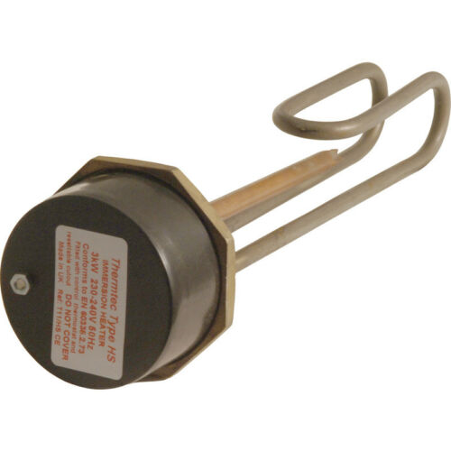 """NEW Long Life Immersion Heater /& Resettable Thermostat 27/"""" Each"""