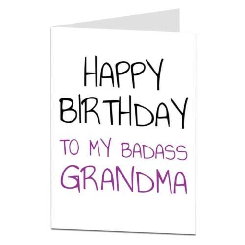 Joyeux Anniversaire Carte De Grand-mère qui déchire drôle!