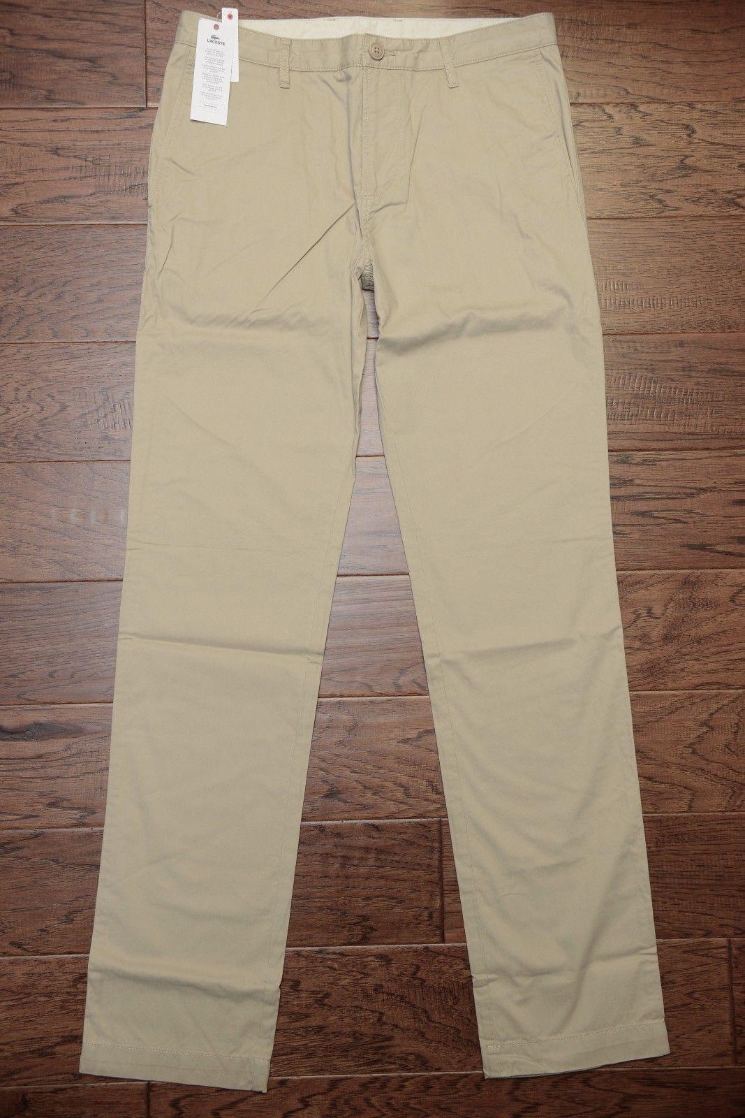 Lacoste Men's Classic Fit Khaki Cotton Casual Pants W40 L30