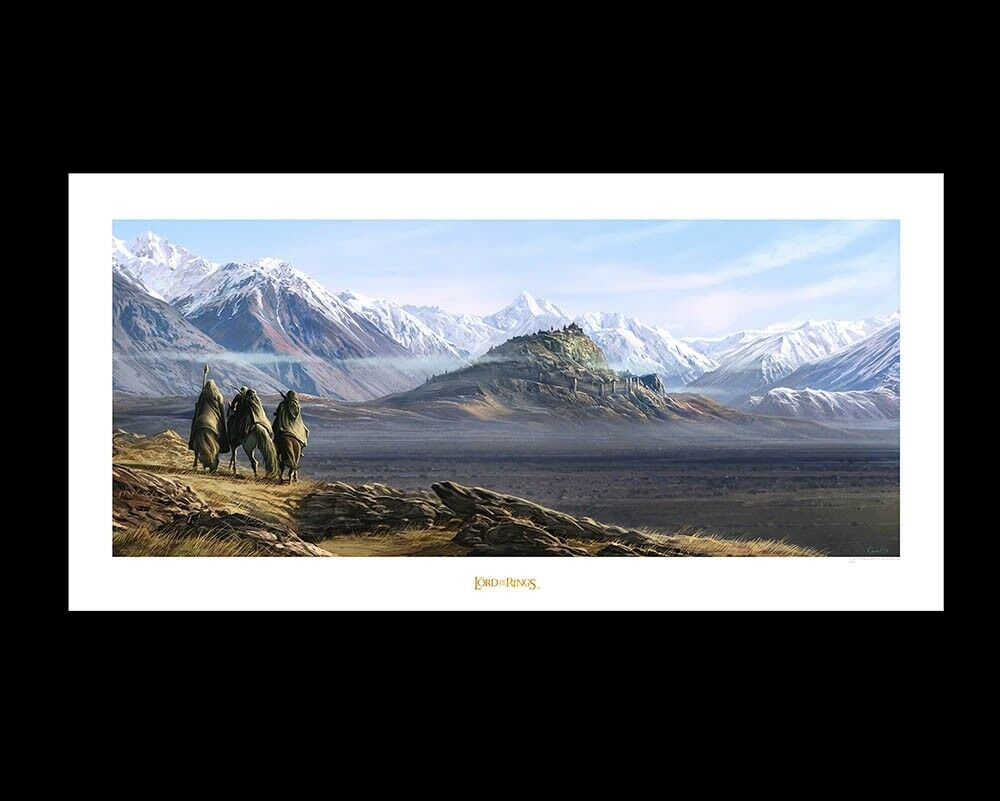 LORD OF THE RINGS - Sunrise upon Edoras - Hobbit Art Print GENUINE WETA LOTR .