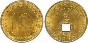 Third Reich 10 Pfennig 1937 F Prfr St