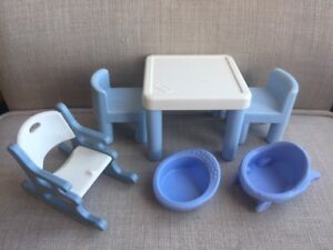 Sensational Details About Little Tikes Dollhouse Furniture Rocking Chair Table Fisher Price Pieces Too Beatyapartments Chair Design Images Beatyapartmentscom